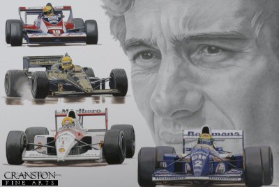 Sporting Legends - Ayrton Senna by Stuart McIntyre.