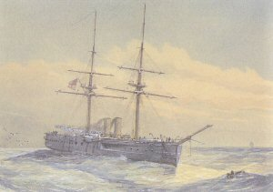 HMS Temeraire by W Fred Mitchell.
