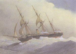HMS Wild Swan by W Fred Mitchell.