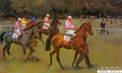 At the Races (Going Out at Kempton) by Sir Alfred Munnings.