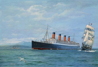 Aquitania - The Ship Beautiful by Gordon Bauwens.