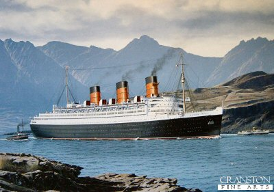 RMS Queen Mary - Maritime Masterpiece by Gordon Bauwens.