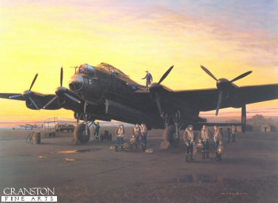 A Lincolnshire Sunset 1944 by Gerald Coulson.