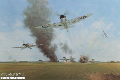 Battle of Britain, Manston, 12th August 1940 by Gerald Coulson.