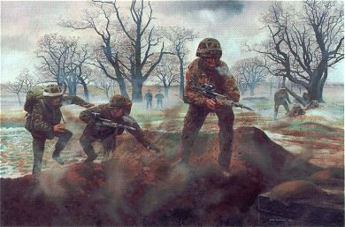 Battle Camp, Infantry Training, Catterick by David Rowlands (GL)