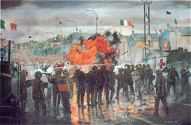 Drumcree, The Gavaghy Road July 1997 by David Rowlands (GL)