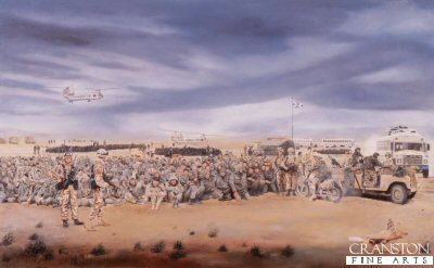 1st Battalion The Royal Highland Fusiliers, Southern Iraq, 27th February 1991 by David Rowlands. (GS)