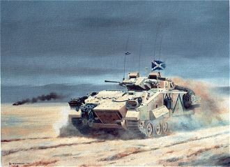 The COs Warrior on Operations in Southern Iraq, Feb 1991 by David Rowlands. (GS)