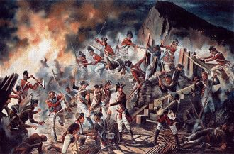 The Sortie from Gibraltar, November 1781 by David Rowlands (GL)