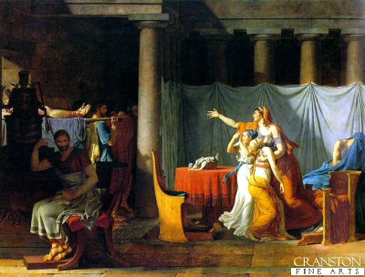 The Lictors Bring to Brutus the Bodies of his Sons by Jacques Louis David (GL)