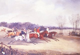 The Forest Stakes by Henry Alken. (GS)