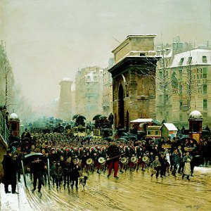 The Passing Regiment, 1875 by Jean Baptiste Edouard Detaille. (GS)