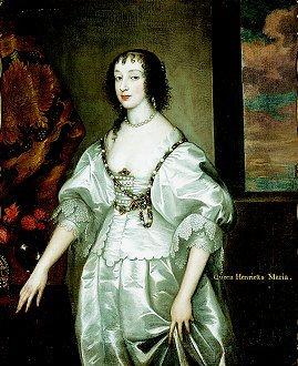 Queen Henrietta Marie after Sir Anthony van Dyck.  (GL)