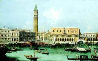 The Molo from the Bacino Di San Marco by Giovanni Antonio Canaletto. (GL)