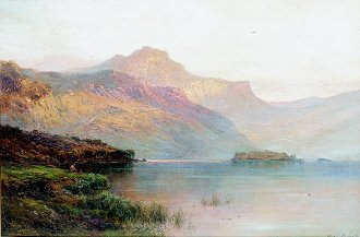 The Hills of Na Garr by Alfred de Breanski. (GS)