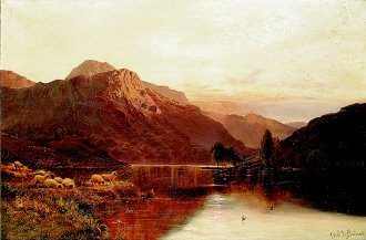 Departing Day near Blair Atholl by Alfred de Breanski. (GL)