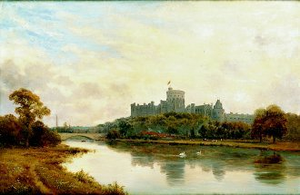 Windsor Castle by Alfred de Breanski. (GS)