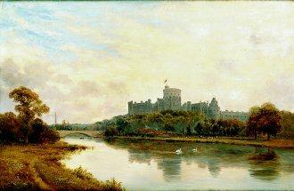 Windsor Castle by Alfred de Breanski. (GL)