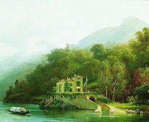 Villa on Lake Como by Massimo D Azeglio. (GS)