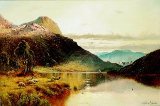 The Banks of Buttermere by Alfred de Breanski. (GL)