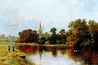 Stratford on Avon, 1902 by Arthur Bevan Collier. (GL)