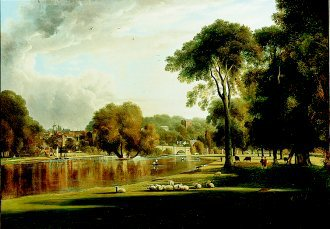 View of the Thames at Richmond by George Hilditch. (GL)