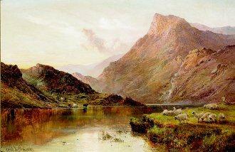 Highland Loch by Alfred de Breanski. (GL)