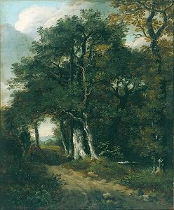 A Woodland Scene, c.1801 by John Constable. (GS)