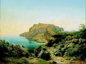 A View of Capri by Carl Marko. (GS)