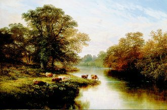 Cattle Watering, 1879 by George Vicat Cole. (GL)