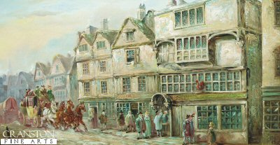 The Cock Tavern, Bishopsgate Street, London by John Charles Maggs. (GS)
