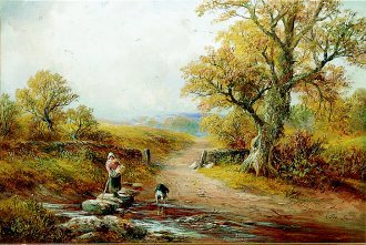 Stepping Stones, Kniveton by George Turner. (GL)