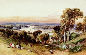 A View of Richmond by William Clarkson Stanfield. (GL)