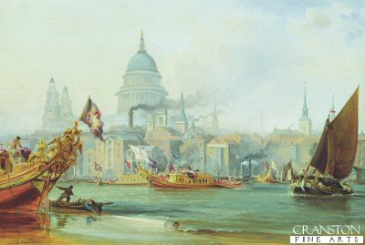 St Pauls Cathedral and the City of London by George Chambers. (GS)