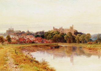 A View of Arundel Castle by Harold Sutton Palmer. (GS)