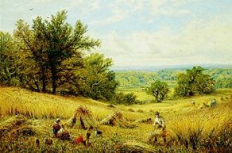 Haymaking by Alfred Augustus Glendening. (GL)