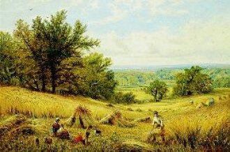 Haymaking by Alfred Augustus Glendening. (GL)