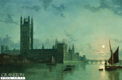 Westminster Abbey and the Houses of Parliament by Peter Pether. (GL)