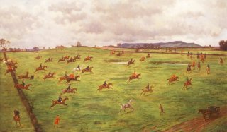 The Cheshire Hunt, making for the Peckforton Hills by George Goodwin Kilburne. (GS)