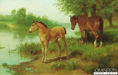 A Mare and Her Foal by Basil Bradley. (GL)