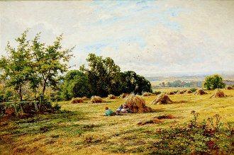A Hampshire Cornfield by Henry H Parker. (GL)