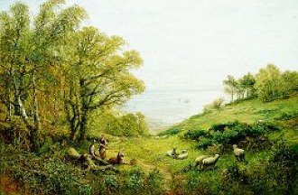 A View Over the Sussex Coast by Alfred Augustus Glendening (GL)