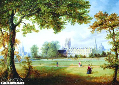 Christchurch From Merton Fieds, Oxford by Richard Bankes Harraden. (GL)