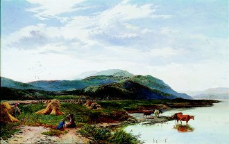 Lake Bala, North Wales by Richard Sidney Percy. (GS)