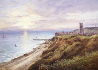 A View of Cromer, Norfolk, from the West by John Moore. (GS)