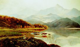 A Lakeside Gathering by Henry John Boddington (GS)