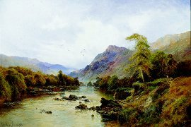 The Lledr Valley, Betws-y-Coed, North Wales by Alfred de Breanski (GL)