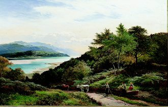 The Mawddarn Valley and Estuary, North Wales by Richard  Sidney Percy. (GS)