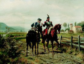 An Incident in the Franco-Prussian War by Emile-Joseph Huenten (GL)