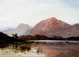 Tarbet and Cobbler From the Loch by Alfred de Breanski. (GL)